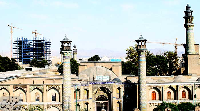 مخدوش کردن آسمان و نمای میدان و مسجد سپهسالار